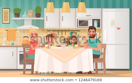 Mother and daughter in dining room Stock photo © photography33