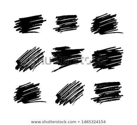 Borstel inkt pen geïsoleerd witte schets Stockfoto © jeremywhat