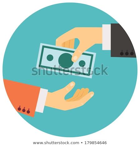 Foto stock: Mão · dinheiro · outro · isolado · homem · fundo