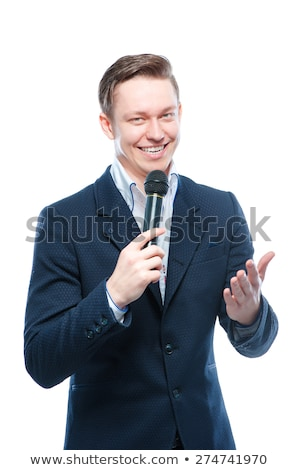 young male tv host Stock photo © photography33