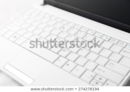 Detail of netbook keyboard Stock photo © jakatics