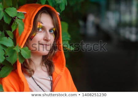 очаровательный · женщину · костюм · Белки · вечеринка - Сток-фото © acidgrey