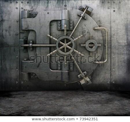 グランジ 銀行 ボールト スタイル 金属 汚れ ストックフォト © kjpargeter