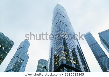 Modern bina mavi gökyüzü Moskova Rusya iş şehir Stok fotoğraf © acidgrey