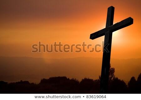 Crucifixion on the graveyard Stock photo © stevanovicigor