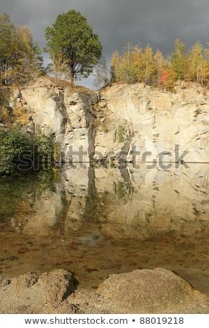 flooded stone quarry Stock photo © pavelmidi