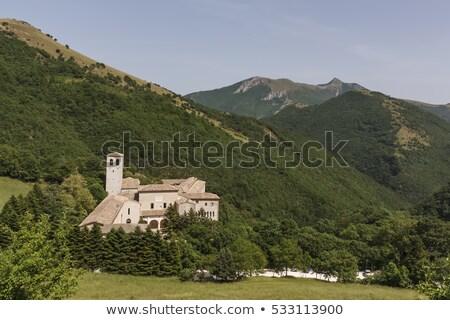 monastery fonte avellana in italy stock photo © haraldmuc