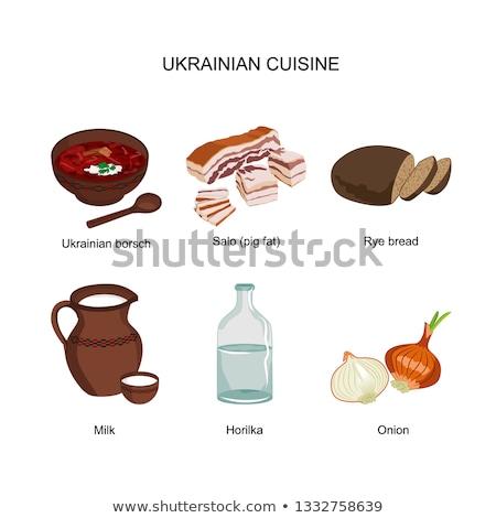 Stock fotó: Vodka · bors · hagyományos · ital · Ukrajna · vektor