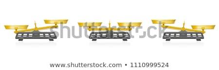 Gouden schalen geïsoleerd witte vector poster Stockfoto © krabata
