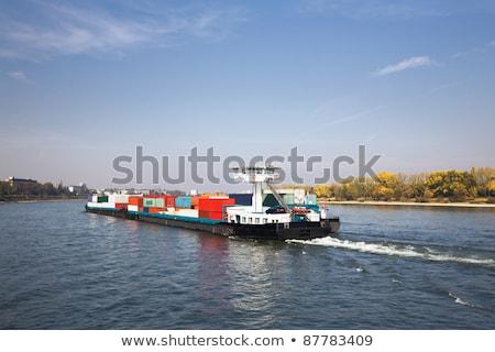 бизнеса · воды · лодка · судно · реке · облаке - Сток-фото © meinzahn
