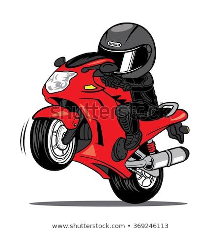 vetor · desenho · animado · motocicleta · eps8 · formato · camadas - foto stock © mechanik