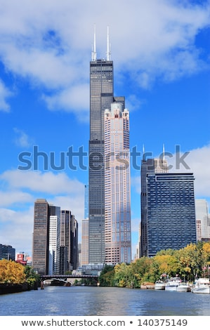 Cityscape of Chicago with the Willis Tower (Sears Tower) Stock photo © AndreyKr