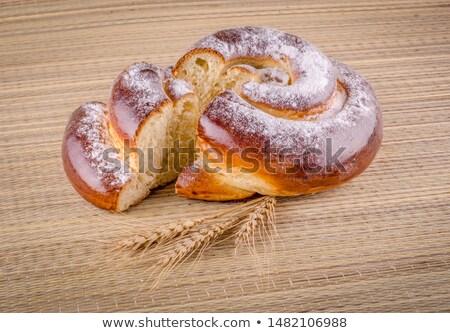 heerlijk · rollen · bakkerij · suiker · tarwe · oor - stockfoto © lunamarina