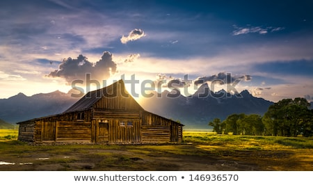 The iconic Moulton barn in Grand Teton National Park,  Stock photo © CaptureLight