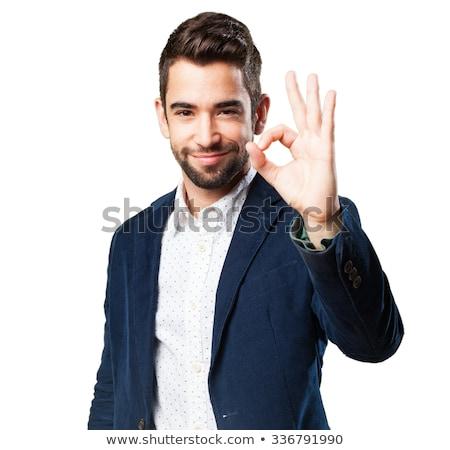 Empresario bueno signo jóvenes senal Foto stock © iko