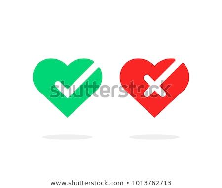 Día de san valentín amor signo corazón carta caída Foto stock © alexmillos