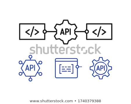Applicazione programmazione interfaccia segno tecnologia business Foto d'archivio © Kirill_M