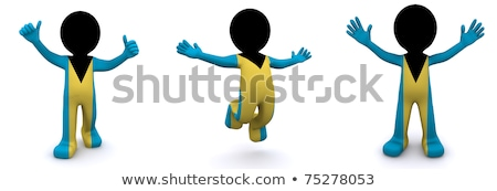 3d character textured with flag of Bahamas Stock photo © Kirill_M