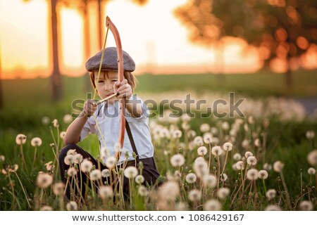 boy shoots a bow Stock photo © Peredniankina