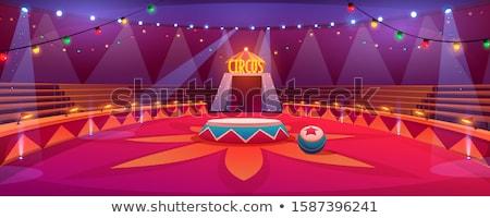 kırmızı · sirk · çadır · iç · kumaş · içinde - stok fotoğraf © silkenphotography