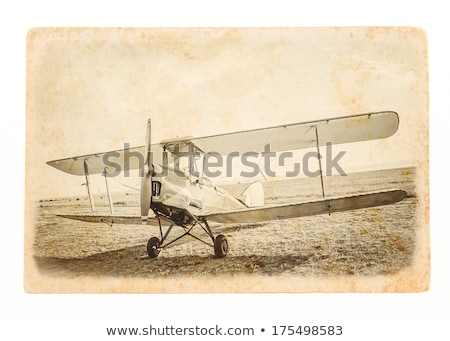 plane with landing gear -  vintage retro style Stock photo © Mikko