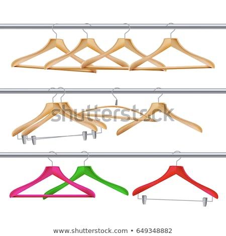 houten · kleding · vector · klassiek · hanger · geïsoleerd - stockfoto © loopall
