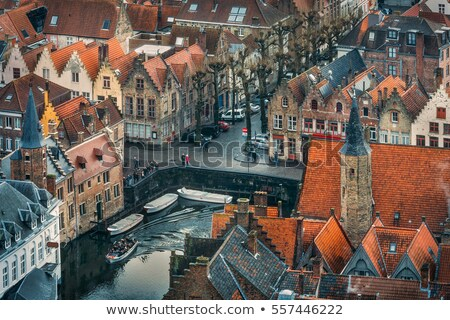 Rooftops and tower Bruges, Belgium Stock photo © jenbray