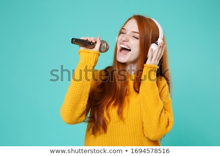 redhead singer stock photo © amok