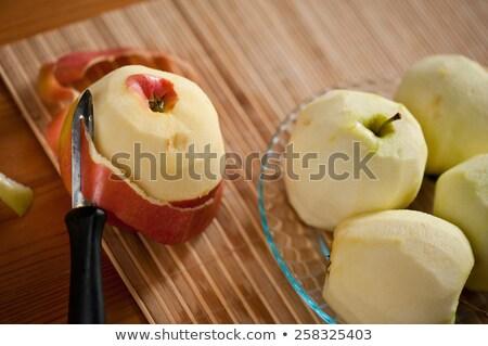 red  apples lie on  bamboo mat Stock photo © alekleks