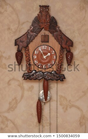 Wooden old-fashioned clock Stock photo © amok
