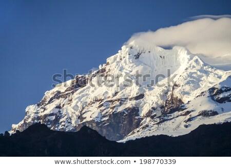 kar · volkan · Ekvador · sabah · ışık · dağ - stok fotoğraf © meinzahn