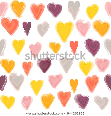 Aquarell heart, vector vintage seamless pattern Stock photo © kali