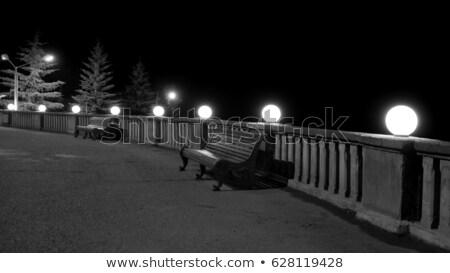 Sphere glow lantern with railings Stock photo © cherezoff