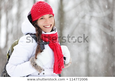 Vivacious woman in winter fashion Stock photo © dash