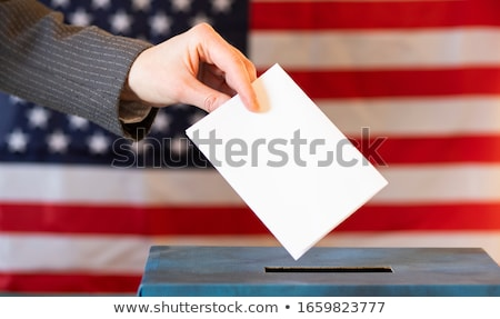 Stock photo: Ballot box with poll