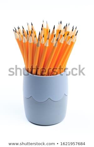 Lápis copo lápis caneta lupa Foto stock © JamiRae