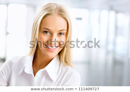 Portrait blond dame femme Photo stock © majdansky