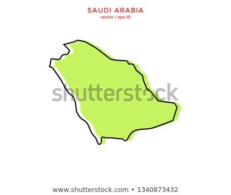 Térkép Szaúd-Arábia különböző betűk fehér világ Stock fotó © mayboro1964