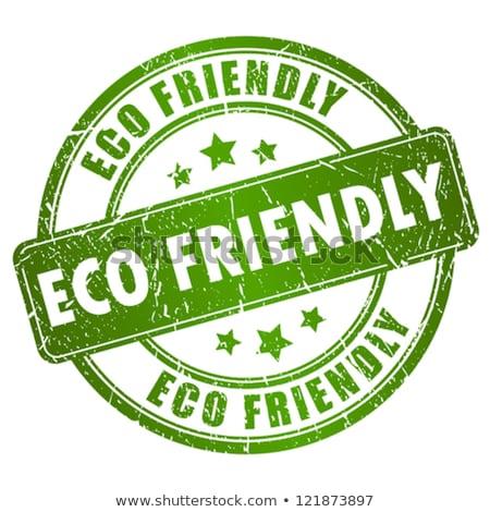 Eco Friendly Green Vector Icon Button Stock photo © rizwanali3d