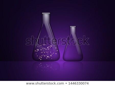 Conical Flask Purple Vector Icon Design Stock photo © rizwanali3d