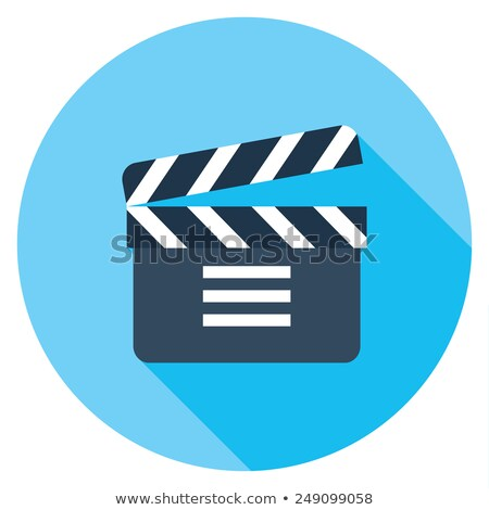 clapboard play flat app icon with long shadow stock photo © anna_leni