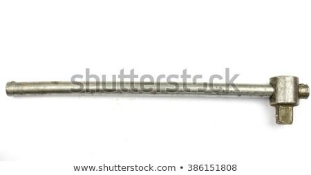 スパナ · 黒 · 赤 · 孤立した · 白 · ツール - ストックフォト © foka