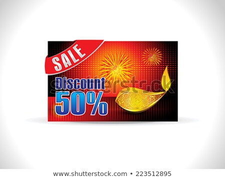 abstract golden deepak on dotted background Stock photo © pathakdesigner