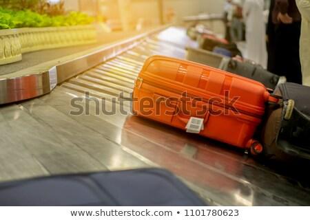 железная · дорога · электроэнергии · изолированный · из · Focus · металл - Сток-фото © prill