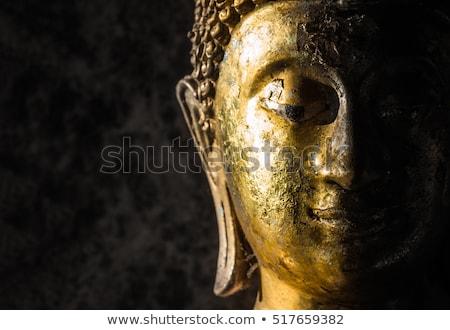 cara · pedra · buda · estátua · olhos - foto stock © stoonn