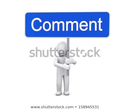 3d человек да знак совета белый Сток-фото © nithin_abraham