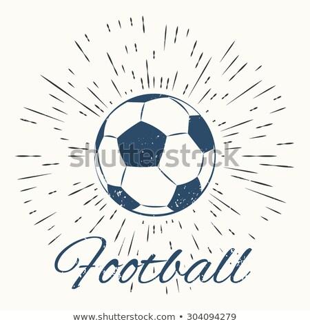 soccer ball and vintage sun burst frame stock photo © netkov1