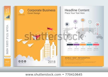 ежегодный продажи докладе бизнеса служба бумаги Сток-фото © fuzzbones0