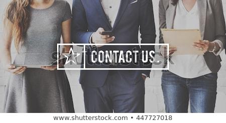 contact us word stock photo © fuzzbones0