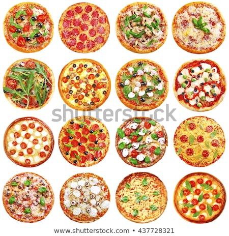 Pizza with tomato and arugula  Stock photo © Fotografiche